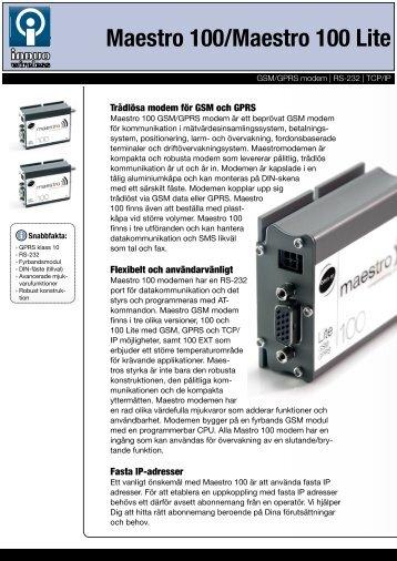 i broschyren för Maestro 100 - Maestro 100 GSM modem