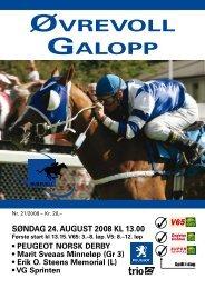 Program søndag 24. august_Komplett.pdf - Øvrevoll Galoppbane