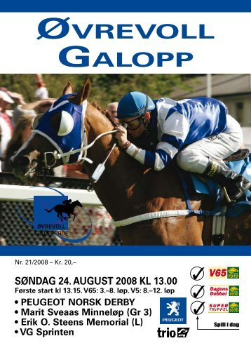 Program søndag 24. august_Komplett.pdf - Øvrevoll Galoppbane