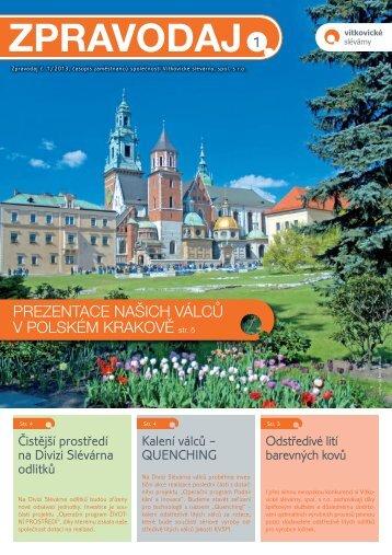 Firemní zpravodaj 1/2013 - Vítkovické slévárny