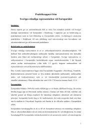 Praktikrapport från Sveriges ständiga representation vid Europarådet