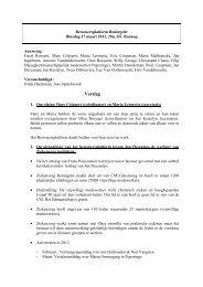 Verslag BP Reningelst 27 maart 2012