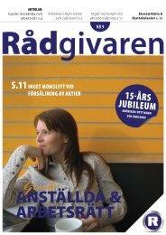 ANSTÄLLDA & ARBETSRÄTT - Rådgivarna