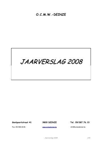 JAARVERSLAG 2008 - Deinze