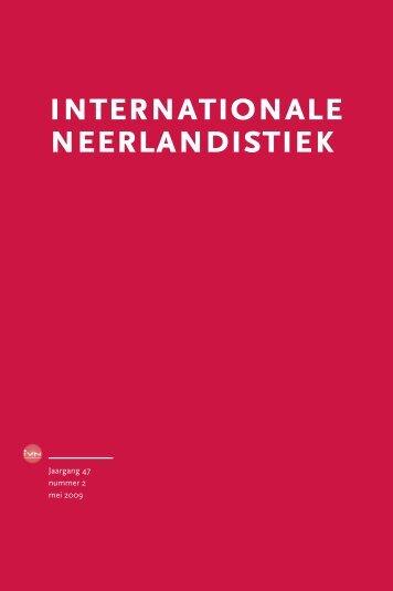 IN 2, mei 2009 - Internationale Vereniging voor Neerlandistiek