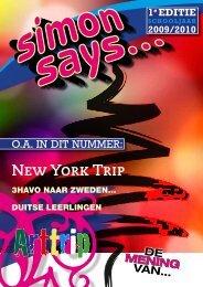 DE MENING VAN… New York Trip - Simon Vestdijk