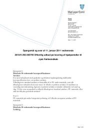 Spørgsmål og svar af 11. januar 2011 vedrørende 2010/S 250 ...