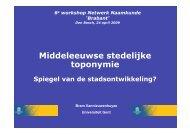 Download Presentatie. - Netwerk Naamkunde