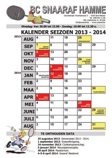 kalender calendrier jupiler pro league 2013 rtbf. Black Bedroom Furniture Sets. Home Design Ideas