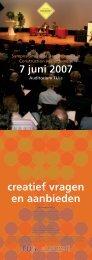 creatief vragen en aanbieden - Symposium VDCM 2009 ...