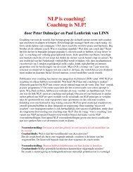 NLP is coaching! Coaching is NLP! - Nederlandse Vereniging voor ...