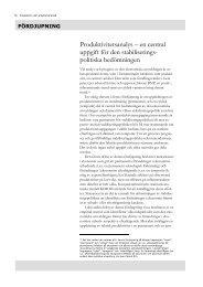 Produktivitetsanalys - en central uppgift för den ... - Konjunkturinstitutet