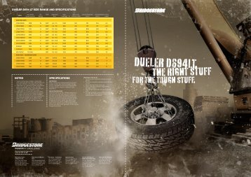 D694LT Brochure - Bridgestone Australia