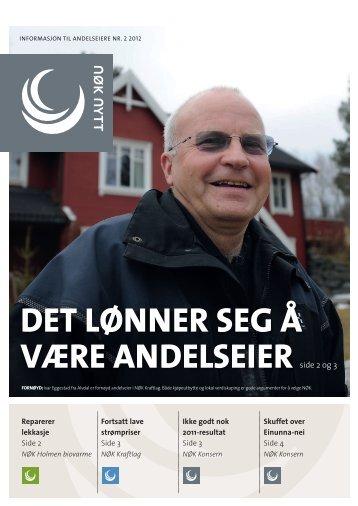 DET LØNNER SEG Å VÆRE ANDELSEIER - NØK