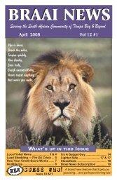 Braai News April 2008