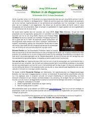 'Werken in de Baggersector' - Central Dredging Association