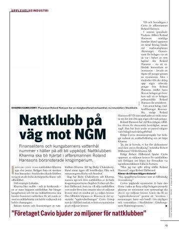 Nattklubb på väg mot NGM - Veckans Affärer