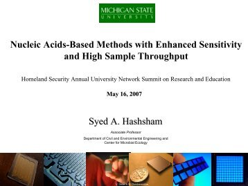 Nucleic Acids-Based Methods with Enhanced Sensitivity and High ...