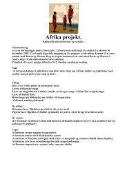 Afrika projekt. - Viborg Bibliotekerne