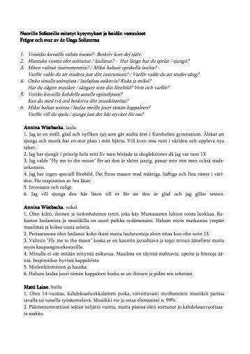 1. Voisitko kuvailla vähän itseäsi? - Vaasankaupunginorkesteri.fi