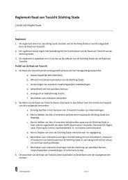 Reglement Raad van Toezicht Stichting Stade