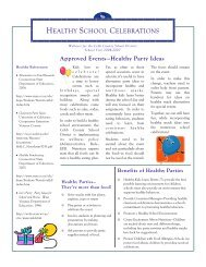 Healthy Snacks Handout - Cobb County School District