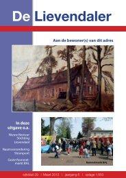 De Lievendaler - Stichting Wijkoverleg Lievendaal