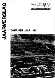 Jaarverslag WZHO 1995 - Oasen