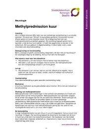 Methylprednisolonkuur - Streekziekenhuis Koningin Beatrix
