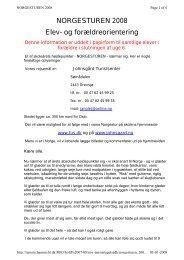 NORGESTUREN 2008 Elev- og forældreorientering - Frijsenborg ...