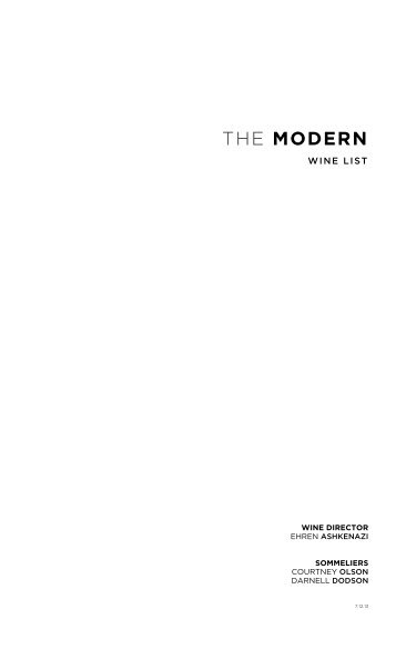 WINES BY THE GLASS - The Modern