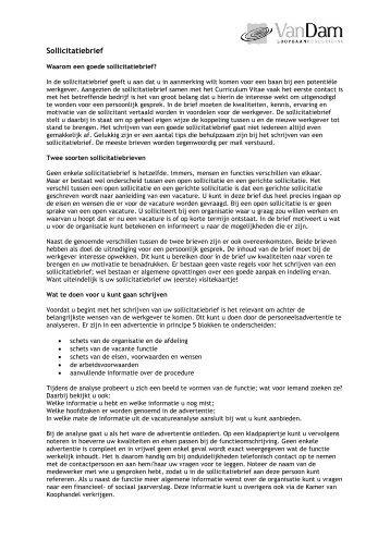 spontane sollicitatiebrief UZ Gent voorbeeld 1 tav. spontane sollicitatiebrief