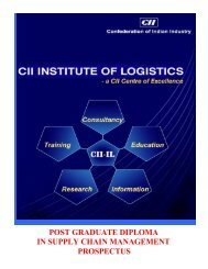 post graduate diploma in supply chain management prospectus
