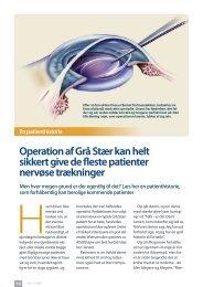 Operation af Grå Stær kan helt sikkert give de fleste patienter ...