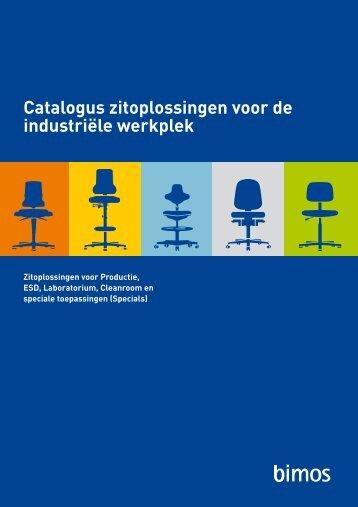Catalogus zitoplossingen voor de industriële werkplek - Bimos