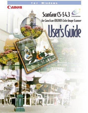 Scangear CS-S 4.3 User's Guide
