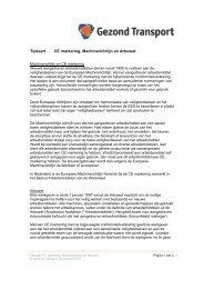 Tipkaart CE markering, Machinerichtlijn en Arbowet