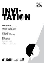 Kære deltager du eller en medarbejder inviteres ... - Design2innovate