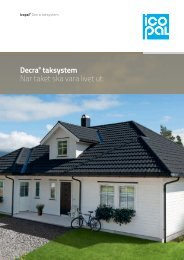 Broschyr Decra - När taket ska vara livet ut - Icopal AB