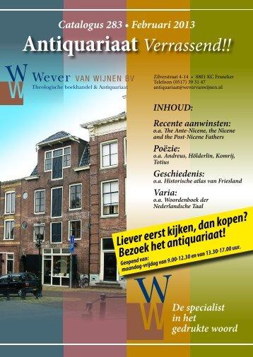 Antiquariaat Verrassend!! - Wever van Wijnen
