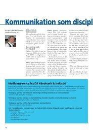 Kommunikation som discipl - DS Håndværk & Industri