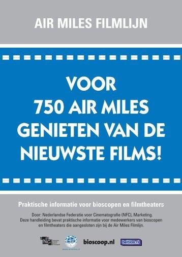 handboek AirMiles bioscoopnl - Nederlandse Vereniging van ...