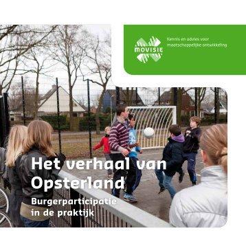 Het verhaal van Opsterland - Koepel Wmo-raden