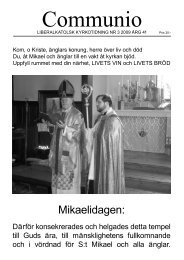 Mikaelidagen: - Liberala katolska kyrkan