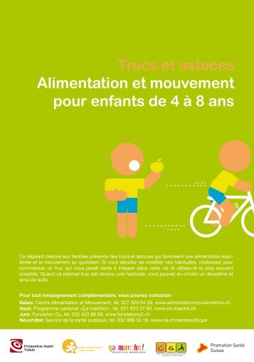 Alimentation et mouvement pour enfants de 4 à 8 ans - SensoCreativ