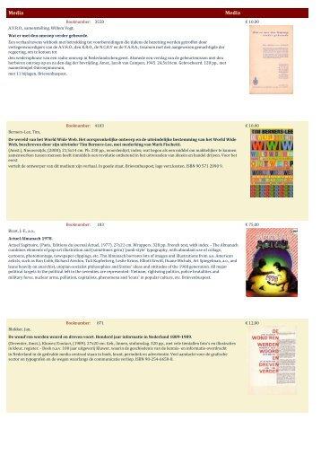 Media Media - Antiquariaat Clio / Cliobook