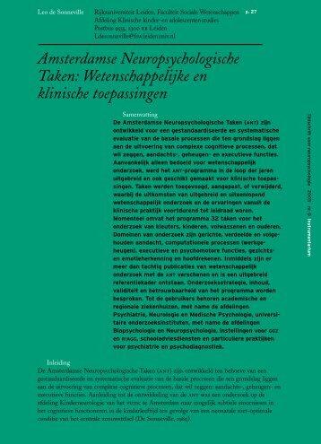 Amsterdamse Neuropsychologische Taken - ANT