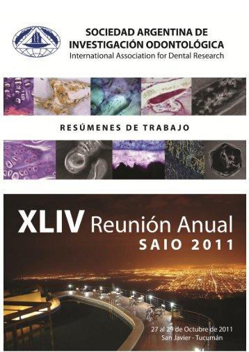 XLIV Reunión Anual de SAIO - San Javier, Tucuman. Año 2011