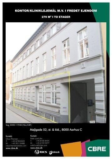 KONTOR/KLINIKLEJEMÅL M.V. I FREDET EJENDOM Mejlgade 52 ...