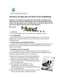 Informerar om några tips och råd för en bra hundhållning: Hunden är ...